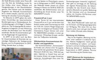 Begegnungszentrum ZIMT startet in den Sommer