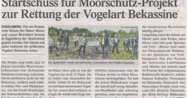 Startschuss für Moorschutz-Projekt zur Rettung der Vogelart Bekassine