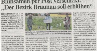 "Blühsamen per Post verschickt: ""Der Bezirk Braunau soll erblühen"""