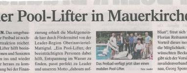 Neuer Pool-Lifter in Mauerkirchen