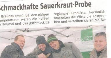Schmackhafte Sauerkrautprobe