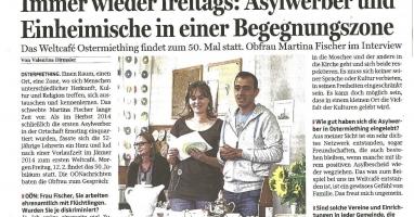 Bereits zum 50. Mal findet das Weltcafé in Ostermiething statt