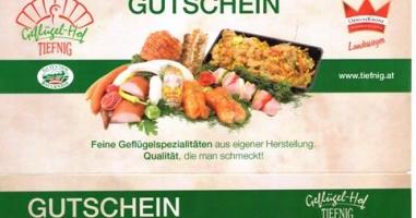 Susanne Gach aus Uttendorf gewinnt € 40,00 vom Geflügelhof Tiefnig