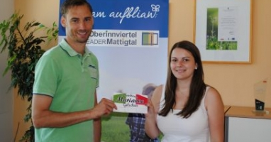 Anreda Gurtner gewinnt den Preis aus Eggelsberg!