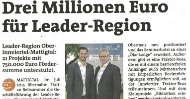 21 Projekte aus unserer Region mit € 750.000,00 unterstützt!