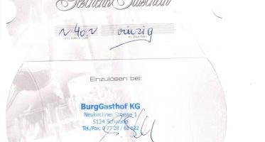 Die 33te Schnitzeljagdfrage hat Franz Scharinger aus Handenberg gewonnen!
