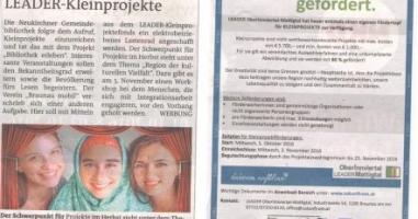 LEADER-Kleinprojekte gesucht und gefördert!