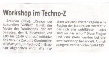 Workshop im Techno-Z