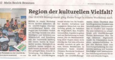 Region der kulturellen Vielfalt?
