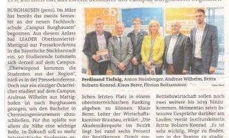 Das zweite Semester am Campus Burghausen hat begonnen