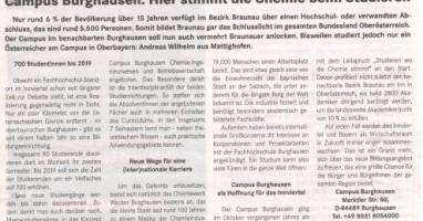 Campus Burghausen als Hoffnung für das Innviertel