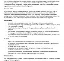 Social Media Profi (m/w) für LEADER-Projekt gesucht!