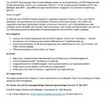 Projektleitung (m/w) für LEADER-Projekt gesucht!
