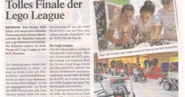 18 Teams aus 9 Schulen stellten sich der Lego League