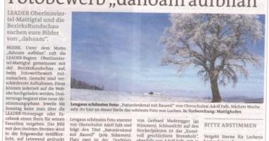 """Das """"Naturdenkmal mit Raureif"""" ist das schönste Foto von Lengau"""