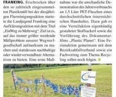 Eine Aktion der Landjugend Franking: EinWeg zu Mehrweg
