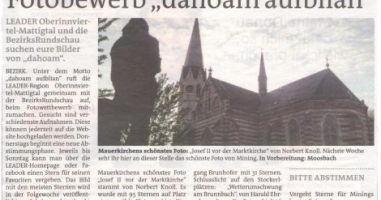 Mauerkirchen hat sein schönstes Foto gewählt
