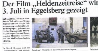 Premiere Heldenzeitreise am 03. Juli um 19.30 Uhr in Eggelsberg