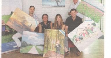 Die schönsten Fotos aus bislang 26 Gemeinden zieren die Wände des Techno-Z Braunau