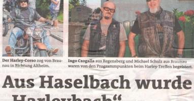 927 Harley-Rider besuchten am Wochenende Braunau am Inn