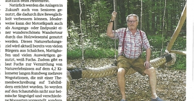 Der Motorik- und Naturerlebnispark im Holzwiesental wird 22. September eröffnet
