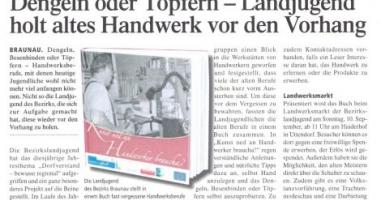 """Altes Handwerk wird mit dem Buch """"Kunst ned an Hanwerker brauchen?"""" vor den Vorhang geholt."""
