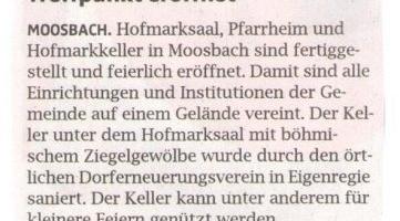 Moosbach hat einen neuen Treffpunkt