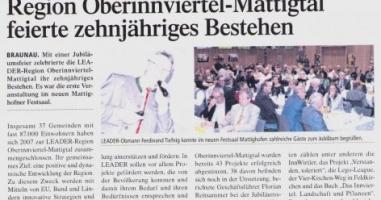 Die LEADER Region Oberinnviertel-Mattigtal in Festlaune