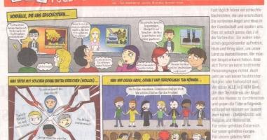 Monatliche Comics sollen Ängste gegenüber Fremdartigem abbauen