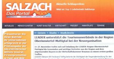 LEADER unterstützt die Tourismusverbände in der Region