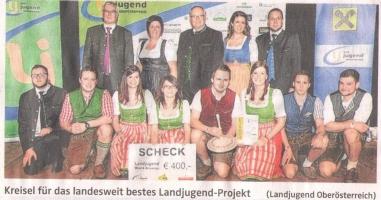 Bezirks-Landjungend mit Kreisel für bestes Projekt geehrt