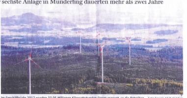 Behördenverfahren für sechstes Windrad in Munderfing abgeschlossen