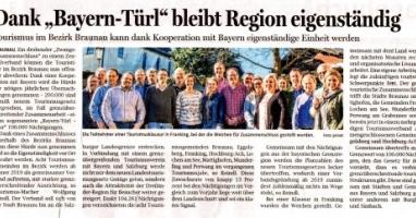"""Dank """"Bayern-Türl"""" bleibt Region eigenständig"""