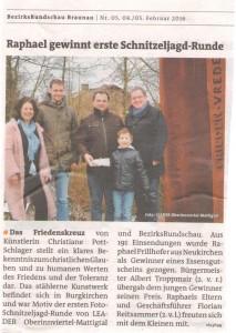 Braunauer BezirksRundschau Raphael gewinnt erste Schnitzeljagdr