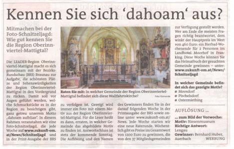 Braunauer Bezirksrundschau Schnitzeljagd Frage 5