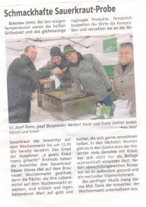 Grenzlandanzeiger Schmackhafte Sauerkrautprobe 1. Februar 2016