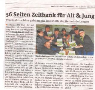 Braunauer BezirksRundschau Zeitbank für Alt und Jung 17. März 2
