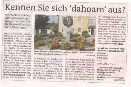 Braunauer BezirksRundschau Frage 13