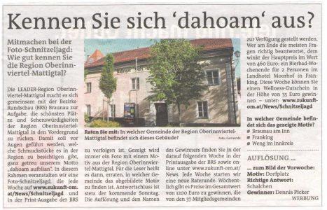 Braunauer BezirksRundschau Frage 14