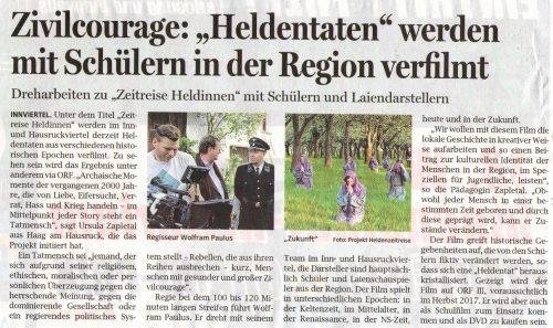 Pressebericht OÖ Nachrichten 26.07.2016