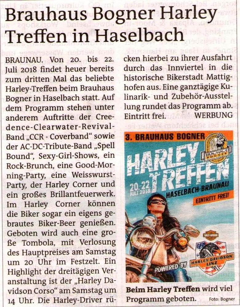 Harley Treffen - Hausbrauerei Bogner